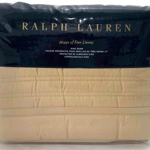 Ralph Lauren Reed King Sham Polished Bronze